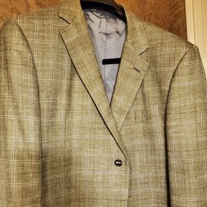 Caruso wool, silk and linen sport coat.  46R